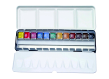 12 PAN SET OF ARTISTS QUALITY WATERCOLOUR PAINTS BY DALER ROWNEY