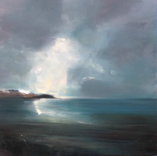 Painting by Maggie O'Brien artist Winter Light