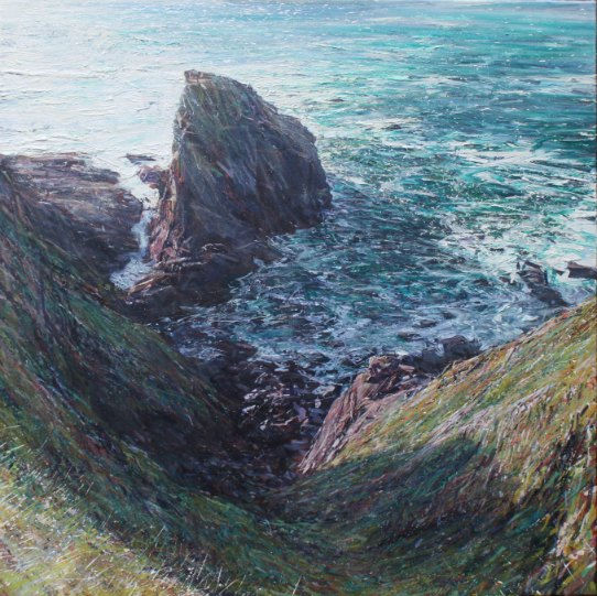 Painting by Paul Lewin artist Gurnard's Head Cornwall