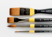 SET OF FOUR RECOMMENDED ACRYLIC BRUSHES SYSTEM 3